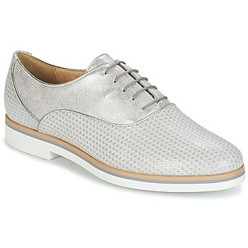 25dcb4e9abae7e Chaussures Femme Derbies Geox JANALEE A Gris / Blanc
