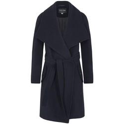 Vêtements Femme Manteaux De La Creme Manteau d'hiver en laine et cachemire Blue