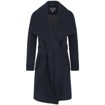 Vêtements Femme Manteaux De La Creme - Gris Femme Hiver Lana Cachemire Wrap Manteux Avec Grande Coll Blue