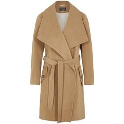 Vêtements Femme Parkas De La Creme Manteau d'hiver en laine et cachemire BEIGE