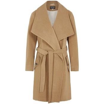 Vêtements Femme Parkas De La Creme - Camel Femme Hiver Lana Cachemire Wrap Manteux Avec Grande Col BEIGE
