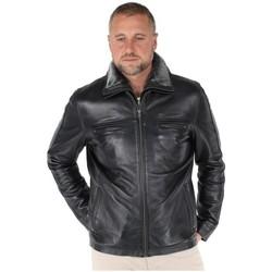 Vêtements Homme Vestes / Blazers Pallas Cuir Blouson  Sélection en cuir ref_mai26741-noir Noir