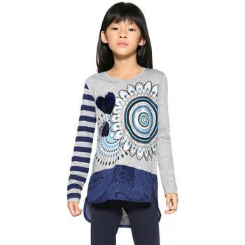 Vêtements Fille T-shirts manches longues Desigual T-Shirt Terranova Gris Clair 17WGTK61 Gris