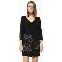 Vêtements Femme Robes courtes Desigual Robe Dominique Noir 17WWVK44 Noir