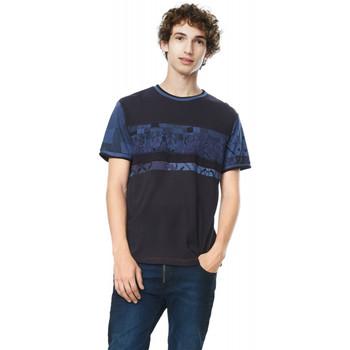 Vêtements Homme T-shirts manches courtes Desigual T Shirt Sobrem Noir 17wmtk61 38