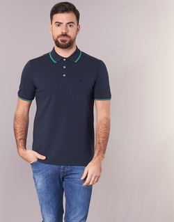 Vêtements Homme Polos manches courtes Benetton MADURI Marine