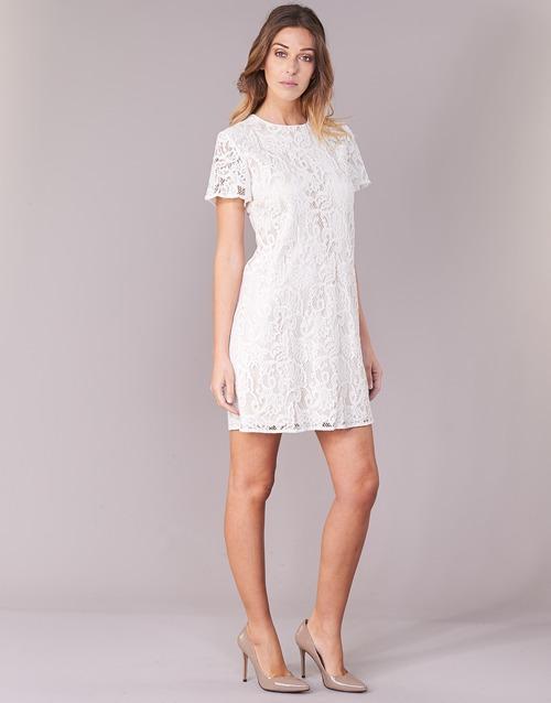 Courtes Blanc Benetton Robes Pristouc Femme 80OPnwkXNZ