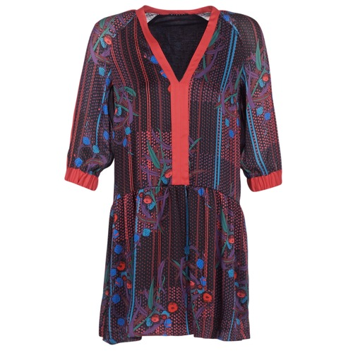 Vêtements Femme Robes courtes Sisley CEPAME Noir / Rouge / Bleu
