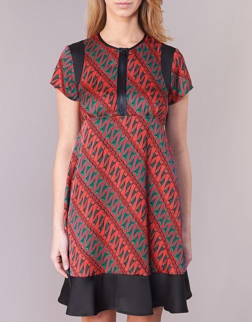 ZEBRIOLO  Sisley  robes courtes  femme  rouge / noir