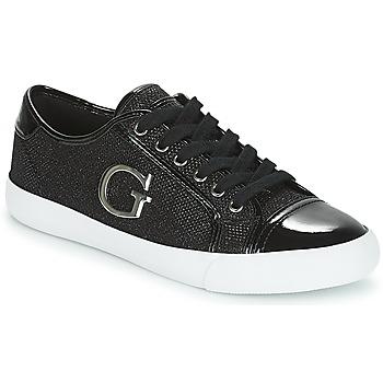 Chaussures Femme Baskets basses Guess ELLY Noir