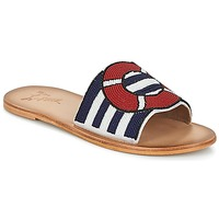 Chaussures Femme Mules Miss L'Fire ALL ABOARD Marine