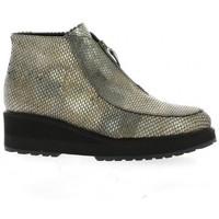 Chaussures Femme Bottines Benoite C Boots cuir python Bronze