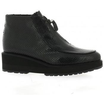 Chaussures Femme Bottines Benoite C Boots cuir python Noir