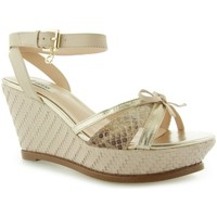 Chaussures Femme Sandales et Nu-pieds Guess HELWYN2 Zeppa Wedge Leather Nude