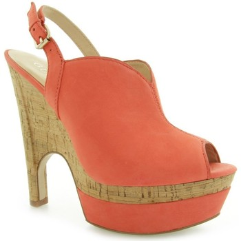 Chaussures Femme Escarpins Guess Jordane Zeppa Wedge Nubuck Red