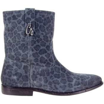 Chaussures Femme Bottines Guess Vivan Printed Suede Bootie Blue