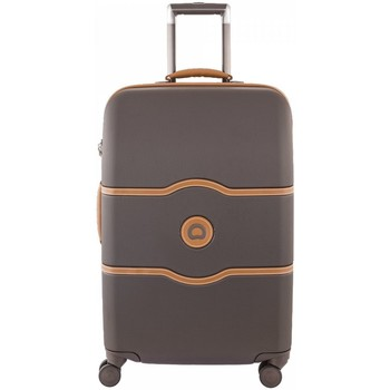 Sacs Valises Rigides Delsey - Valise rigide taille moyenne Châtelet Hard + chocolate