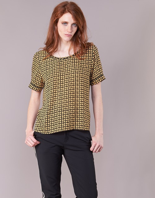 Vêtements Femme Tops / Blouses Maison Scotch SINIM Noir / Moutarde