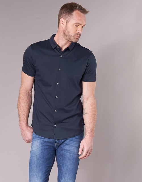 Marine Armani Manches Homme Courtes Chemises Emporio Bewu 9bYWHED2Ie