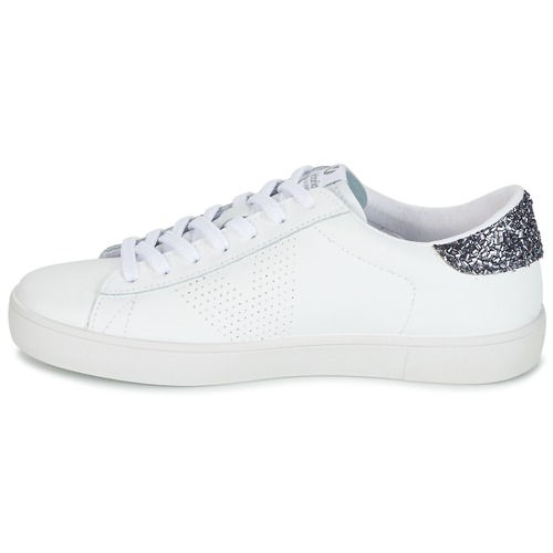 Deportivo Piel Femme Blanc Chaussures Basses Baskets Victoria mvNw80On