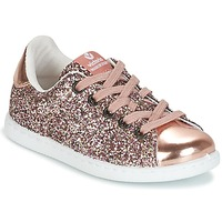 Chaussures Fille Baskets basses Victoria DEPORTIVO GLITTER KID ROSE