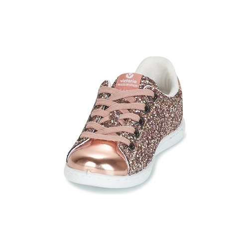 Chaussures Basses Deportivo Kid Baskets Rose Fille Victoria Glitter WEHI2YD9