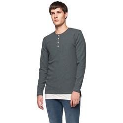 Vêtements Homme T-shirts manches longues Minimum TRUXTON Gris