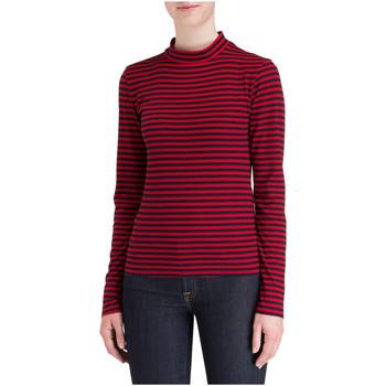 Vêtements Femme T-shirts manches longues Minimum MARYAM Rouge / Bleu