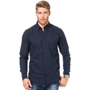 Vêtements Homme Chemises manches longues Minimum GARRET Gris Foncé
