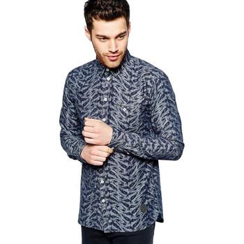Vêtements Homme Chemises manches longues Minimum BRAYSON Bleu