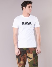 Vêtements Homme T-shirts manches courtes G-Star Raw HOLORN R T S/S Blanc