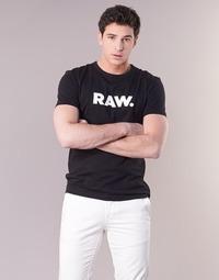 Vêtements Homme T-shirts manches courtes G-Star Raw HOLORN R T S/S Noir