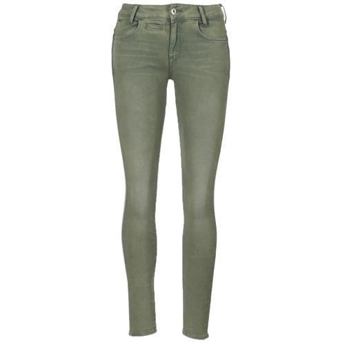 Vêtements Femme Pantalons 5 poches G-Star Raw D-STAQ 5-PKT MID SKINNY COJ WMN Light Hunter