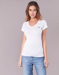 Vêtements Femme T-shirts manches courtes G-Star Raw EYBEN SLIM V T WMN S/S Blanc