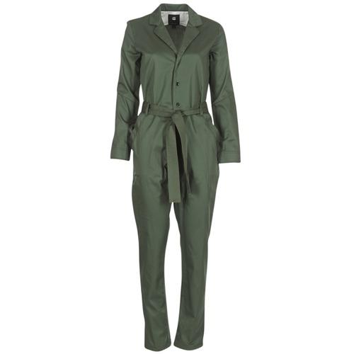 Vêtements Femme Combinaisons / Salopettes G-Star Raw DELINE JUMPSUIT WMN L/S Kaki