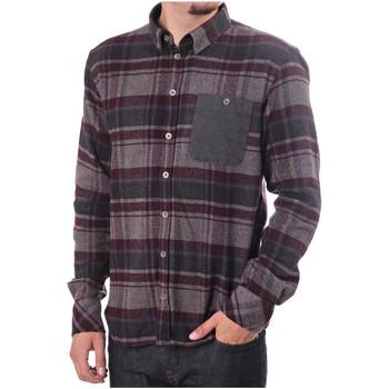 Vêtements Homme Chemises manches longues Minimum RAVEN Gris / Bordeaux
