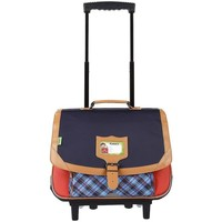 Sacs Enfant Sacs / Cartables à roulettes Tann's - Trolley cartable 38 cm Tartan (42214) rouge