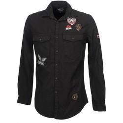 Vêtements Homme Chemises manches longues Hite  Couture Carlit black ml shirt Noir