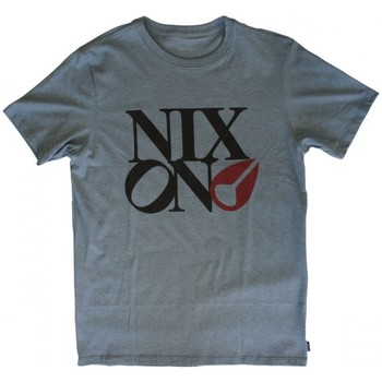 Vêtements Homme T-shirts manches courtes Nixon T-shirt Philly Too - Blue Heather Bleu