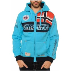 Vêtements Garçon Sweats Geographical Norway Sweat à capuche Enfant Flyer Turquoise
