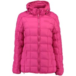 Vêtements Fille Parkas Geographical Norway Doudoune Fille Barbouille Fuschia Rose
