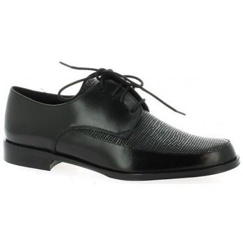 Elizabeth Stuart Derby cuir python Marine - Chaussures Derbies Femme