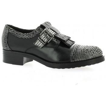 Chaussures Femme Mocassins Donna Più Derby cuir laminé Argent