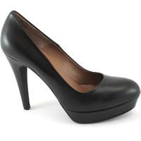 Chaussures Femme Escarpins Les Venues LES 2000 chaussures noires LIEUX cuir à talons de plateaux dcoll Nero