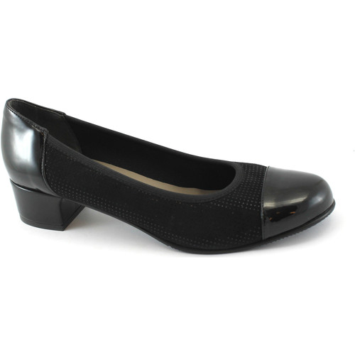 Chaussures Femme Escarpins Grunland Grünland BEBE SC3654 chaussures noires femme stretch talon dcoll Nero