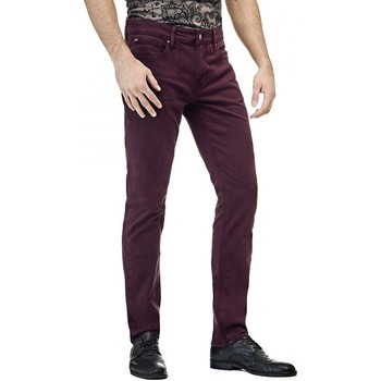 Vêtements Homme Pantalons Guess Pantalon Homme Slim Angels Bordeaux 8