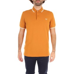 Vêtements Homme T-shirts manches courtes Fred Perry M3600 T-shirt Homme BURNT AMBER & SNOW WHITE BURNT AMBER & SNOW WHITE