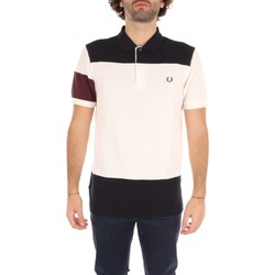 Vêtements Homme Polos manches courtes Fred Perry M2520 T-shirt Homme white/ blue white/ blue