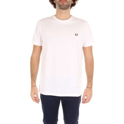 Vêtements Homme T-shirts manches courtes Fred Perry M6334 T-shirt Homme White White