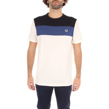 Vêtements Homme T-shirts manches courtes Fred Perry M2544 T-shirt Homme white / blue /light  blue white / blue /light  blue
